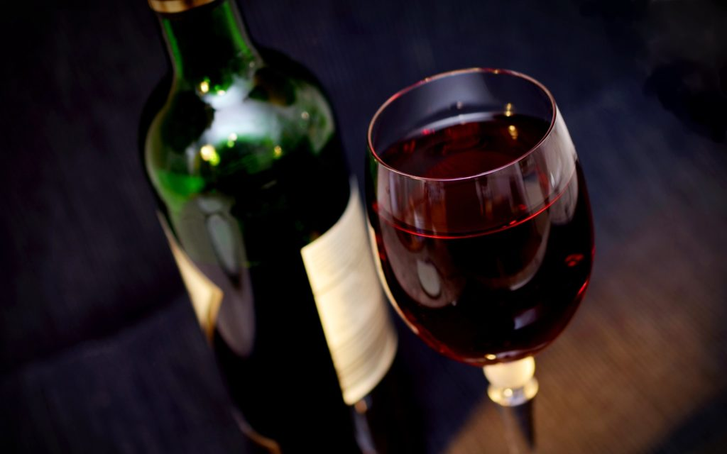 Glass of Red Wine Wallpaper